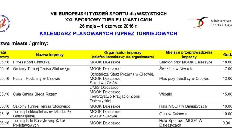 XXII Sportowy turniej miast i gmin